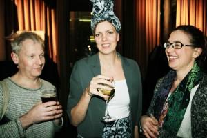 Glada killar och tjejer: Martin Beskow, jag och Anna Furumark